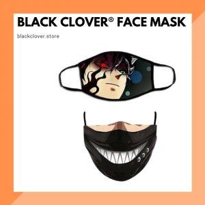 Black Clover Face Mask