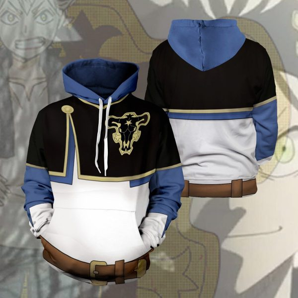 asta unisex pullover hoodie 539020 - Black Clover Merch Store