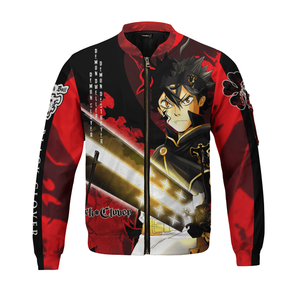 black asta bomber jacket 477745 - Black Clover Merch Store