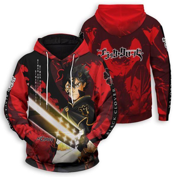 black asta unisex pullover hoodie 940865 - Black Clover Merch Store