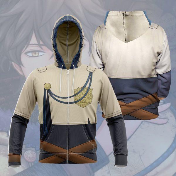 yuno unisex zipped hoodie 344174 - Black Clover Merch Store