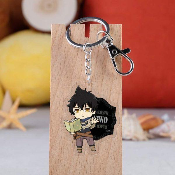 10 pcs lot Anime Black Clover Acrylic Keychain Toy Figure Asta Bag Pendant Double sided Key 2 - Black Clover Merch Store