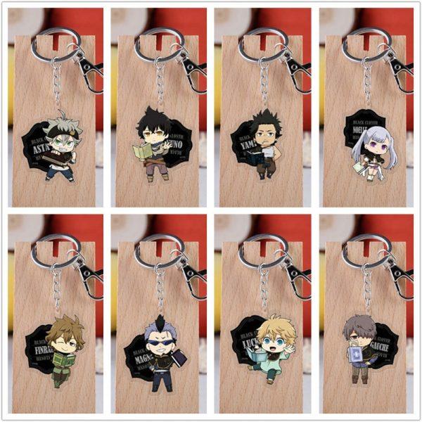 10 pcs lot Anime Black Clover Acrylic Keychain Toy Figure Asta Bag Pendant Double sided Key - Black Clover Merch Store