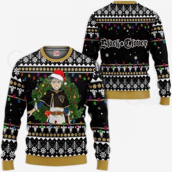 1116 AOP Black Clover Ugly Sweater VA Asta 3 MK sweatshirt - Black Clover Merch Store