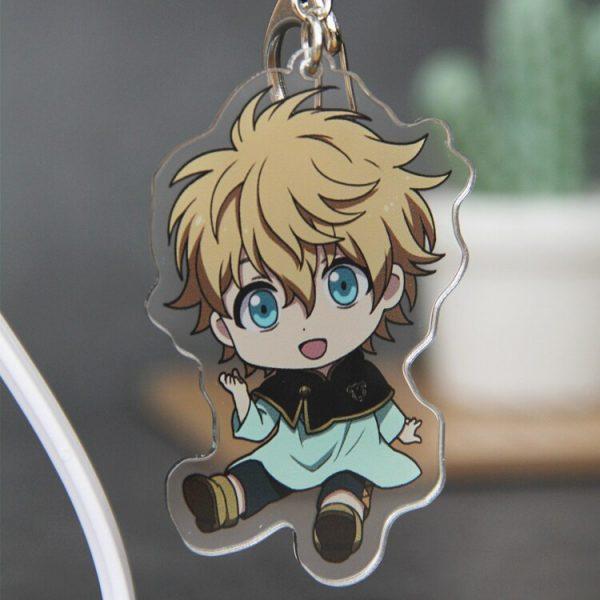 1PCS Anime Cartoon Key Chains Black Clover Action Figure Acrylic Keychain Pendant Cosplay Keyring Fashion Jewelry 4 - Black Clover Merch Store
