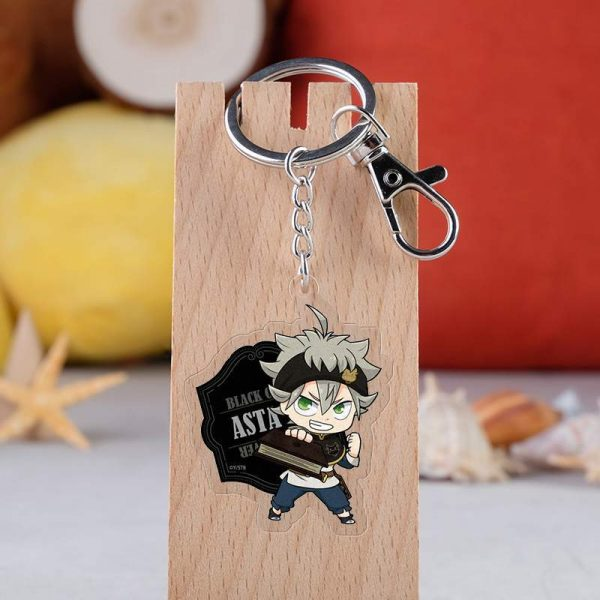 31 Style Black Clover Action Figure Anime Acrylic Noell Sukehiro Swing Keychain Pendant Christmas Gifts 5 - Black Clover Merch Store