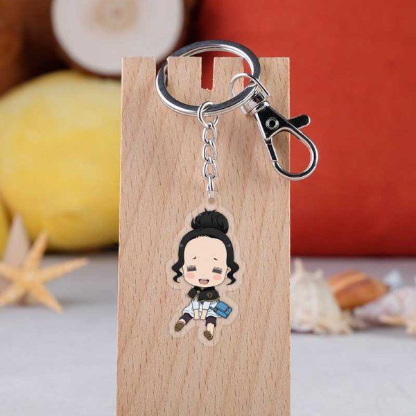 31 Style Black Clover Action Figure Anime Acrylic Noell Sukehiro Swing Keychain Pendant Christmas Gifts 5.5cm