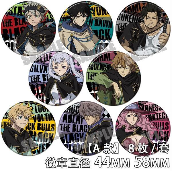 Anime Black Clover Asuta Yuno Noell Silva Yami Sukehiro Figure 4598 Badges Round Brooch Pin Gifts 1 - Black Clover Merch Store