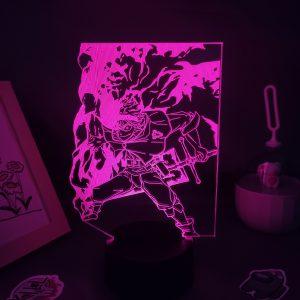 Anime Black Clover Figure Asta 3D LED USB Lava Lamp RGB Neon Night Light Bedroom Table - Black Clover Merch Store
