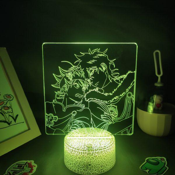 Anime Black Clover Figure Asta Yuno Grinbellor LED Lamp RGB Neon Night Light Bedroom Table Decor 4 - Black Clover Merch Store