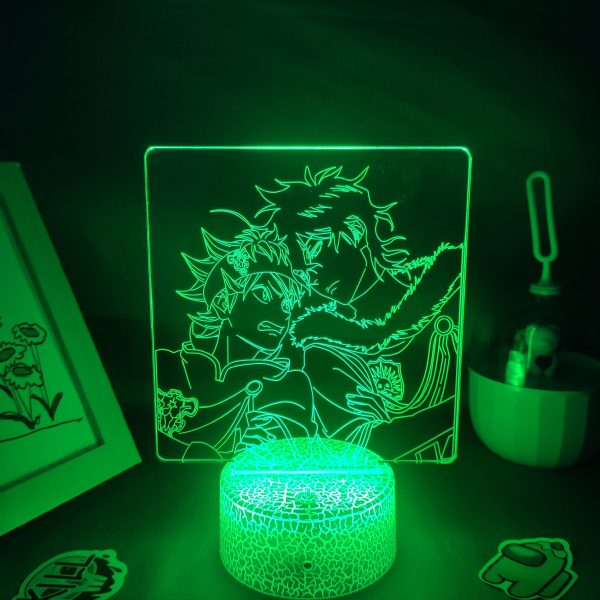 Anime Black Clover Figure Asta Yuno Grinbellor LED Lamp RGB Neon Night Light Bedroom Table Decor 5 - Black Clover Merch Store