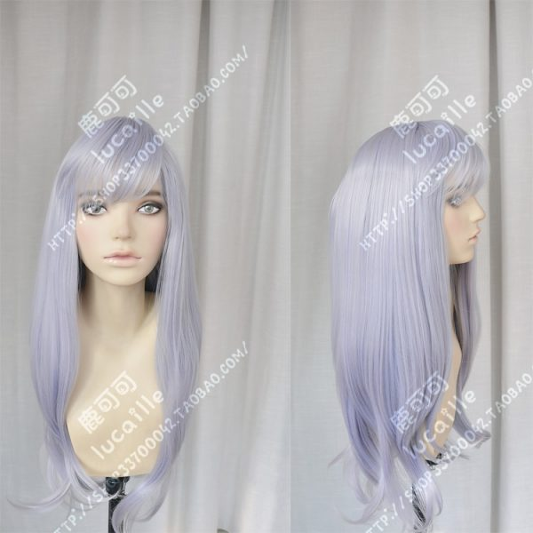 Anime Black Clover Noell Silva Cosplay Wig Long Gray Purple Heat Resistant Synthetic Hair Wigs Wig 3 - Black Clover Merch Store
