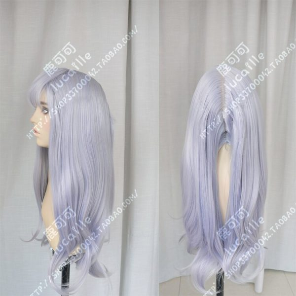 Anime Black Clover Noell Silva Cosplay Wig Long Gray Purple Heat Resistant Synthetic Hair Wigs Wig 4 - Black Clover Merch Store