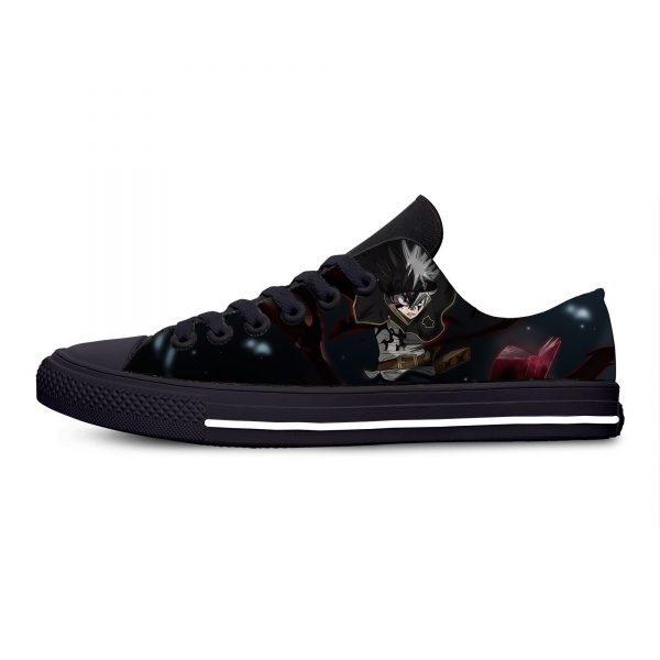 Black Clover Anime Hot Cool Fashion Casual Canvas Shoes Low Top Breathable Lightweight Sneakers 3D Print 3 1 - Black Clover Merch Store