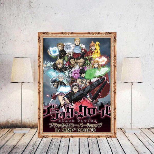 Black Clover Anime Manga Wall Silk Poster Scroll Pictuce Hanging 29 42cm 1 - Black Clover Merch Store