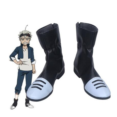 Black Clover Asta Cosplay Shoes Boots Anime Halloween Party Boots for Adult Men Shoes Accessories - Black Clover Merch Store