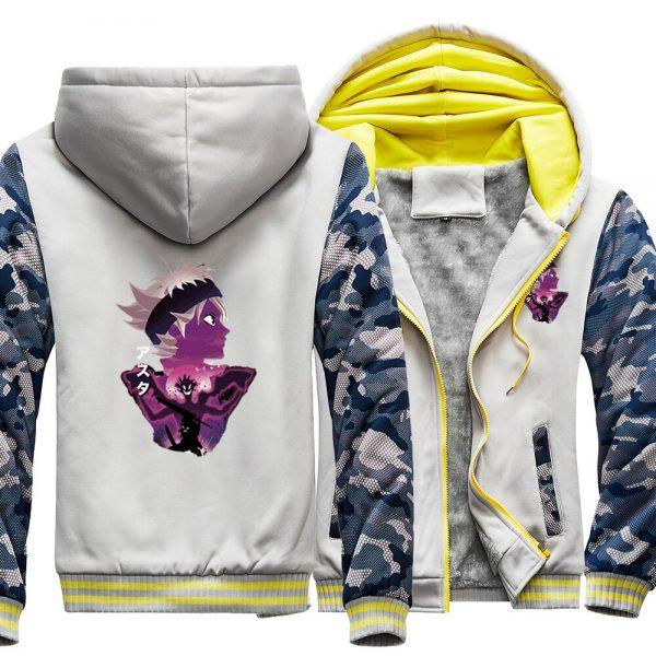 Black Clover Japanses Anime Asta Raglan Thick Hoodies Top Men Jackets Winter Warm Sweatshirts Printed Sweatshirt 1 - Black Clover Merch Store