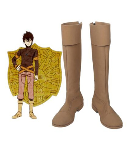 Black Clover Kingdom Golden Dawn Magic Knight Yuno Cosplay Shoes Boots Halloween Party Custom Made Adult - Black Clover Merch Store