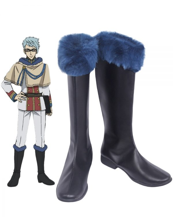 Black Clover Klaus Lunettes Cosplay Boots Black Shoes Custom Made - Black Clover Merch Store