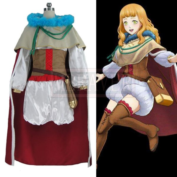 Black Clover Mimosa Vermilion Cos Halloween Party Cosplay Costume Custom Made Any Size - Black Clover Merch Store