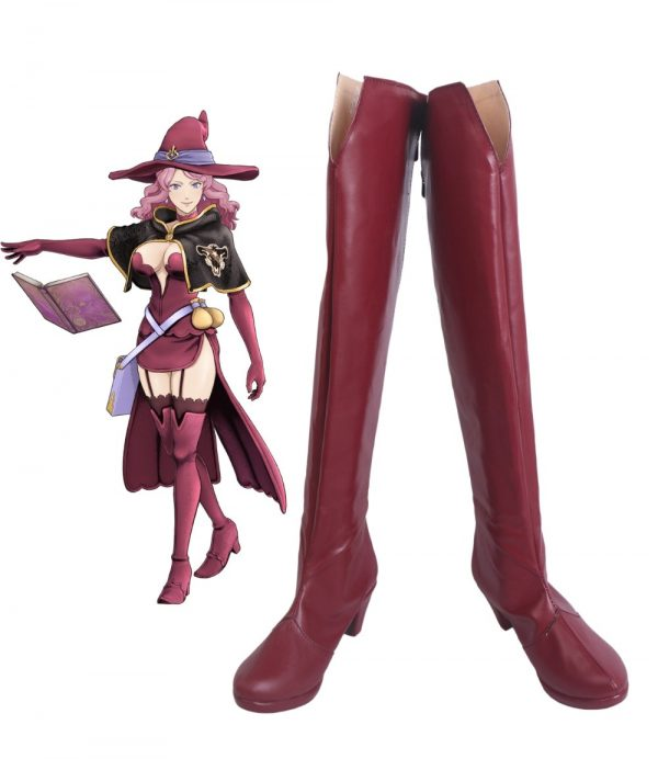 Black Clover Quartet Knights Vanessa Enoteca Cosplay Boots Red Shoes High Heel Custom Made Any Size - Black Clover Merch Store