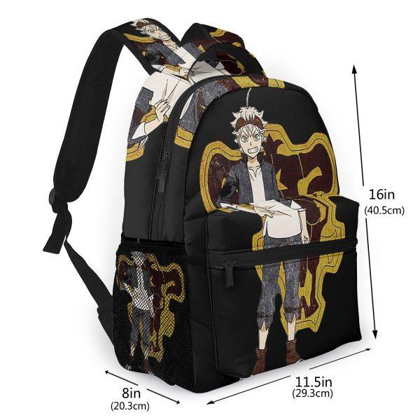 Black Clover School Bags ASTA Black Clover Beautiful backpack for Men Women 1 - Black Clover Merch Store