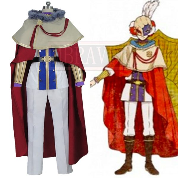 Black Clover William Vangeance Christmas Halloween Uniform Outfit Cosplay Costume Customize Any Size - Black Clover Merch Store