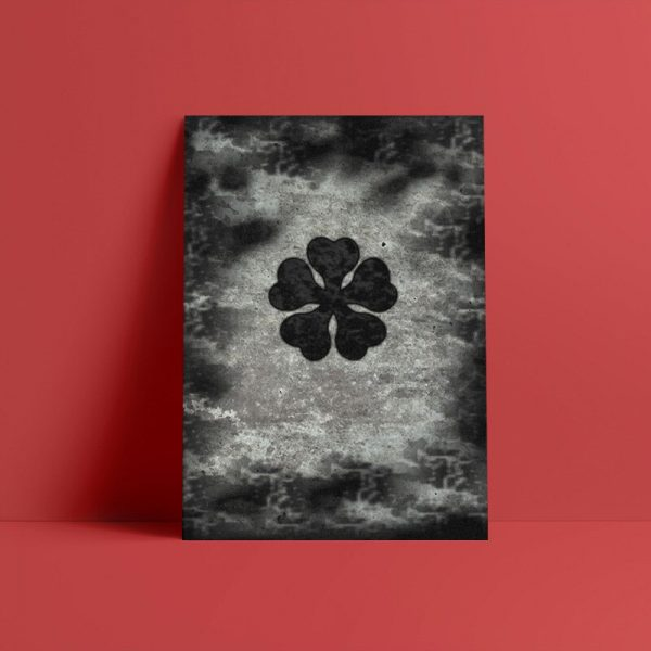 Canvas HD Prints Pictures Plant Wall Art Painting Black Clover Five Leaf Home Decoration Modular Poster 1 - Black Clover Merch Store