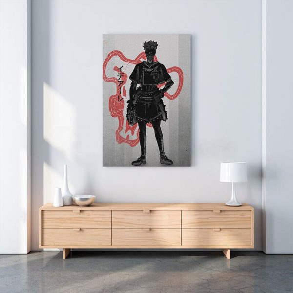 Home Decor Canvas Zora Ideale Pictures Wall Art Black Clover Paintings Prints Modern Anime Role Modular 1 - Black Clover Merch Store