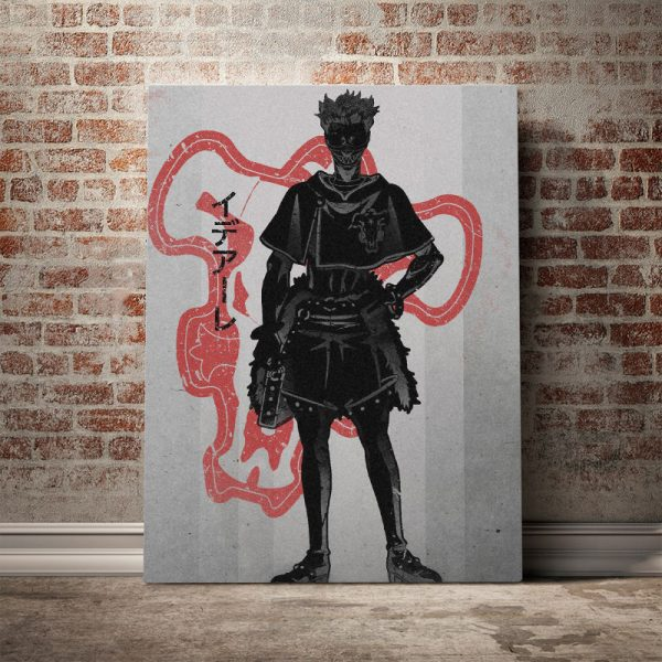 Home Decor Canvas Zora Ideale Pictures Wall Art Black Clover Paintings Prints Modern Anime Role Modular - Black Clover Merch Store