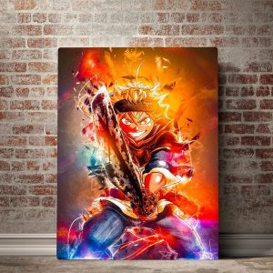 Home Decoration Black Clover Canvas Painting Hd Prints Anime Dark Sword Fire Pictures Wall Art Modular - Black Clover Merch Store