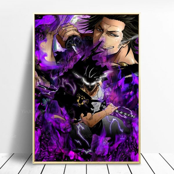 Home Decoration Black Clover Paintings Wall Art Canvas Modular Picture HD Japanese Cartoon Figure Print Posters - Black Clover Merch Store