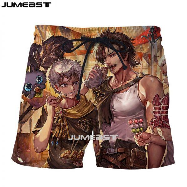 Jumeast Brand Men Women 3D Printed Anime Black Clover Shorts Trunks Quick Dry Beach Casual Sweatpants 4 - Black Clover Merch Store