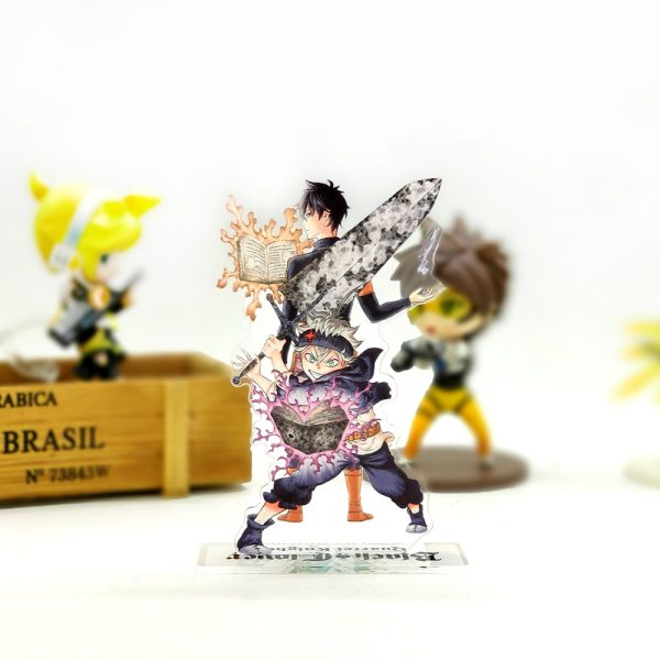 Love Thank You Black Clover Asta Yuno acrylic stand figure model plate holder cake topper anime 1 - Black Clover Merch Store