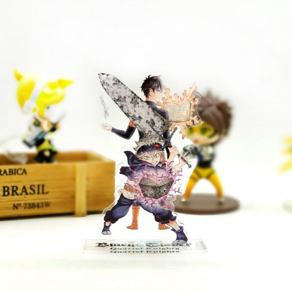 Love Thank You Black Clover Asta Yuno acrylic stand figure model plate holder cake topper anime - Black Clover Merch Store