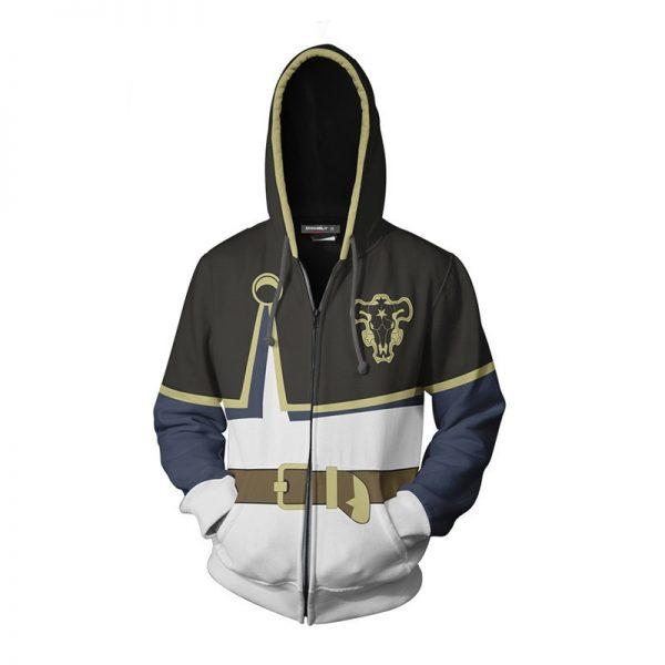 Men Women 3D Hoodies for Anime Black Clover Asta Cosplay Hoodie Coat Casual Zipper Sweatshirts Jacket - Black Clover Merch Store