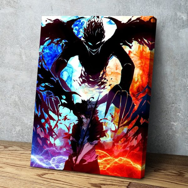 Modern HD Printed Home Decor Modular Canvas Poster Pictures Blood Red Devil Asta Black Clover Anime 1 - Black Clover Merch Store