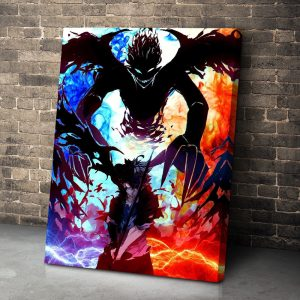 Modern HD Printed Home Decor Modular Canvas Poster Pictures Blood Red Devil Asta Black Clover Anime - Black Clover Merch Store