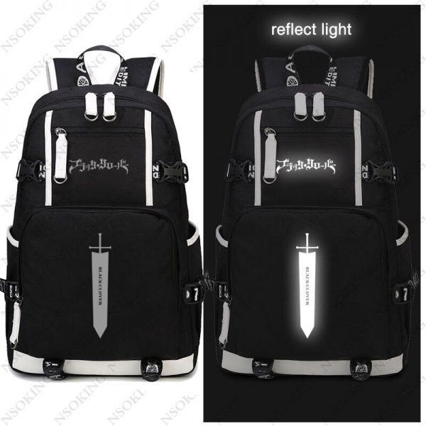 New Black Clover Backpack Asta cosplay Nylon School Bag School Student Teenagers Travel Bags 2 - Black Clover Merch Store