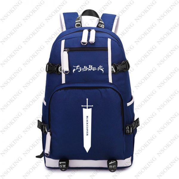 New Black Clover Backpack Asta cosplay Nylon School Bag School Student Teenagers Travel Bags 4 - Black Clover Merch Store