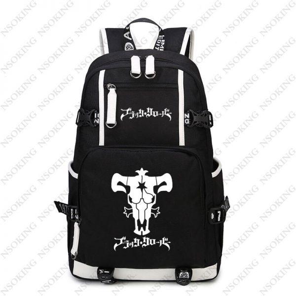 New Black Clover Backpack Asta cosplay Nylon School Bag School Student Teenagers Travel Bags 5 - Black Clover Merch Store