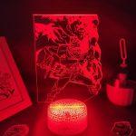 Anime Black Clover Figure Asta 3D LED USB Lava Lamp RGB Neon Night Light Bedroom Table Decoration Birthday Manga Gift For Friend