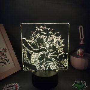 Anime Black Clover Figure Asta Yuno Grinbellor LED Lamp RGB Neon Night Light Bedroom Table Decor Birthday Manga Gift For Friend