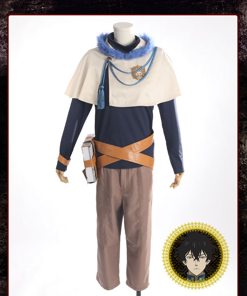 Anime Black Clover Yuno Grinbellor Cosplay Costumes Uniform Full Sets Wig Synthetic Hair Men Boys Halloween Carnival Party