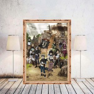 Black Clover Anime Manga Wall Silk Poster Scroll Pictuce Hanging 29*42cm