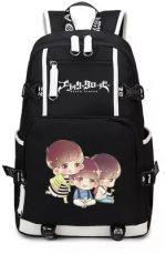 Black Clover Backpack Cosplay Anime Asta Canvas Bag Schoolbag Travel Bags