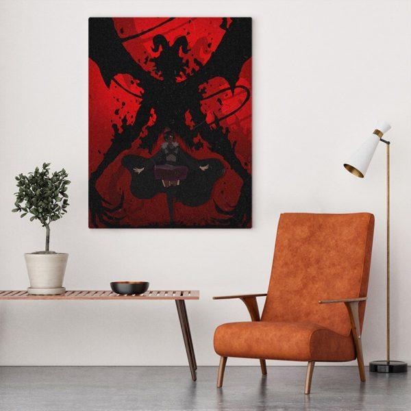 black clover devil megicula anime poster Canvas Wall Art Decoration prints for Home bedroom decor Painting 3 - Black Clover Merch Store