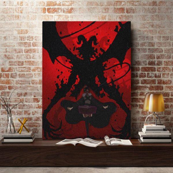 black clover devil megicula anime poster Canvas Wall Art Decoration prints for Home bedroom decor Painting 4 - Black Clover Merch Store