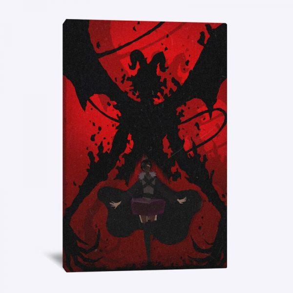 black clover devil megicula anime poster Canvas Wall Art Decoration prints for Home bedroom decor Painting 5 - Black Clover Merch Store