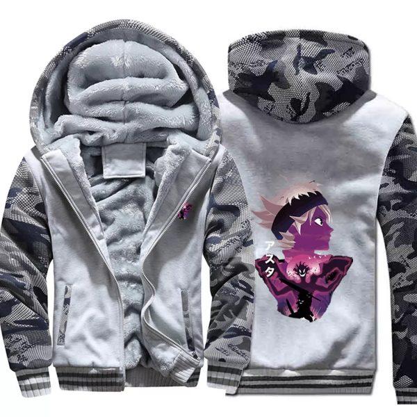 Black Clover Jacket: Asta Thick Winter Jacket